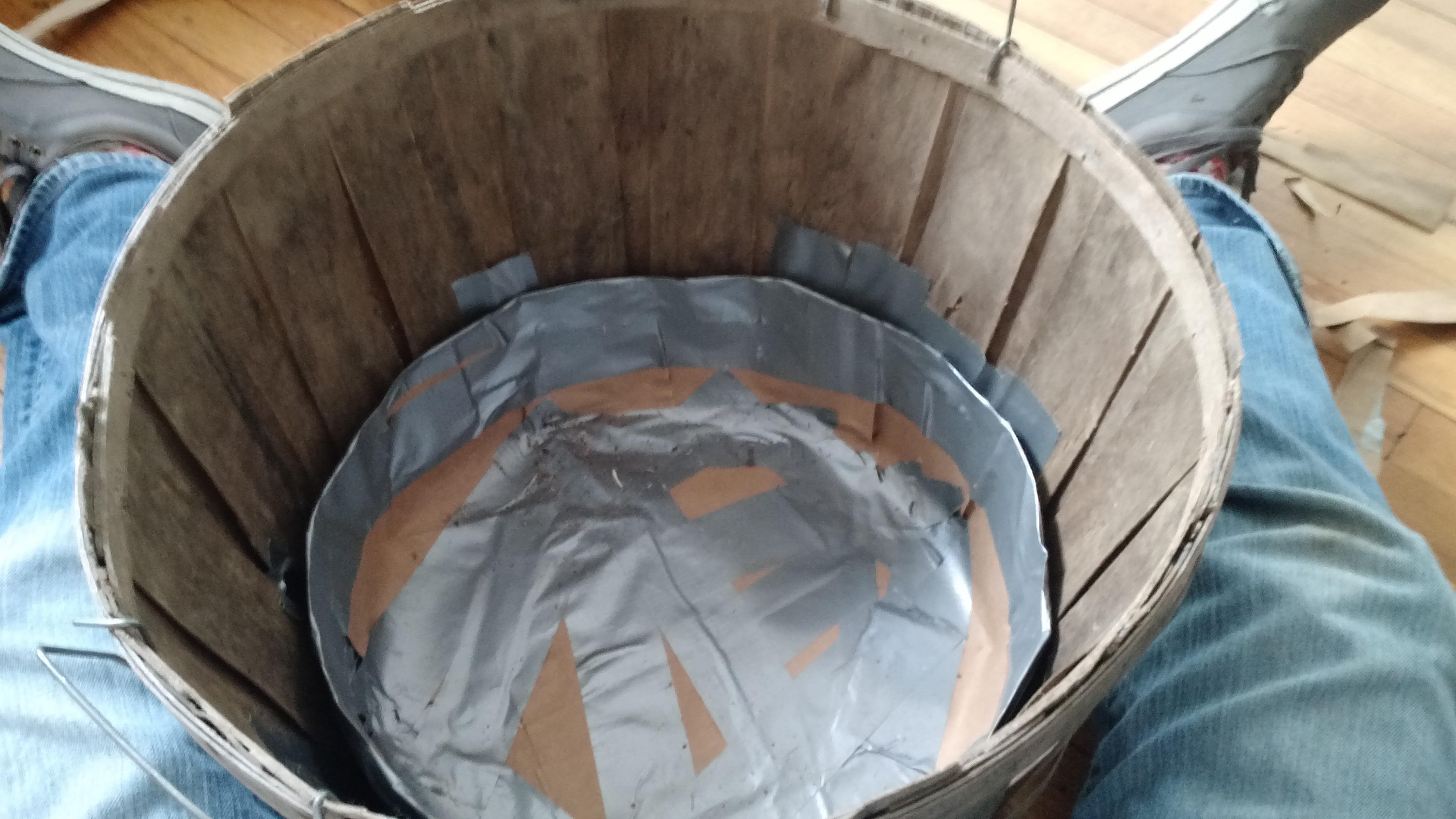 Finished basket liner
